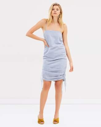 Shona Joy Picasso Ruched Slip Mini Dress