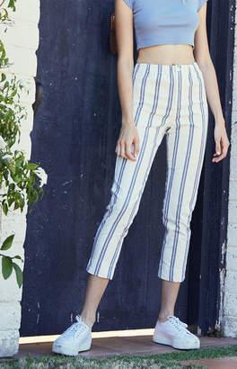 adidas John Galt White & Blue Striped Tilden Pants