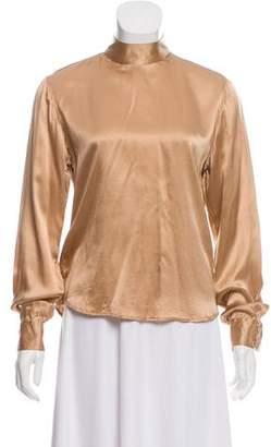 Veronique Branquinho Silk Long Sleeve Blouse
