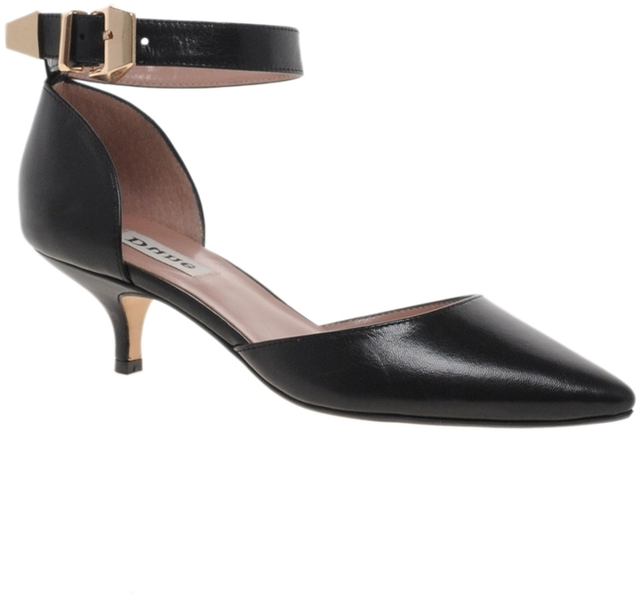Dune Candella Ankle Strap Pointed Court Shoes