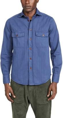 Barena Venezia Teti Herringbone Double Pocket Shirt Jacket