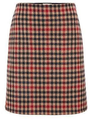HUGO BOSS Houndstooth A-line miniskirt in a wool blend