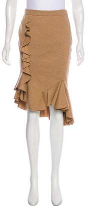 Givenchy Ruffled Knee Length Skirt