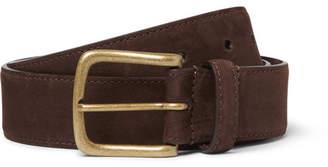 Anderson & Sheppard 3.5cm Brown Nubuck Belt