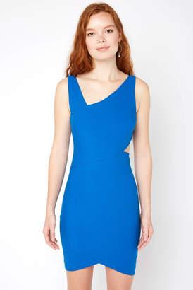 LIKELY Skylar Asymmetric Cutout Bodycon Dress