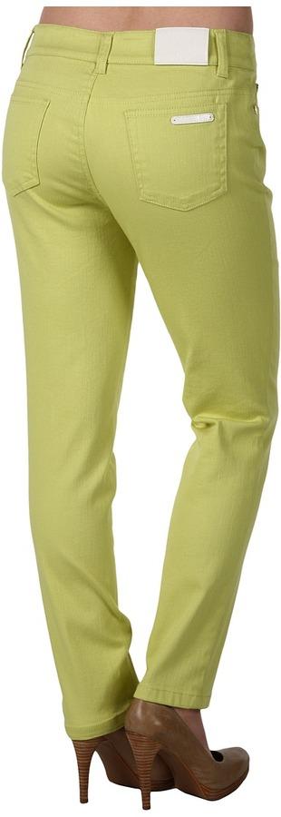 Anne Klein Petite - Petite 5 Pocket Skinny Jean in Lime Sorbet (Lime Sorbet) - Apparel
