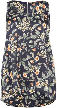 Dorothy Perkins Womens *Tenki Navy Blue Floral Print Jersey Top
