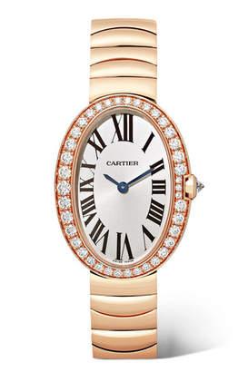 Cartier Baignoire 24.5mm Small 18-karat Pink Gold And Diamond Watch - Rose gold