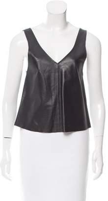 Kova And T Kova & T Sleeveless Leather Top