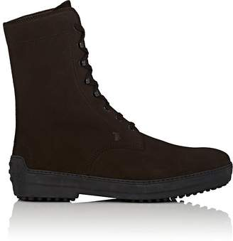 Tod's MEN'S SUEDE LACE-UP BOOTS