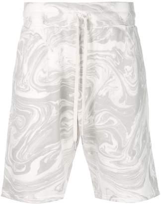 John Elliott marble effect track shorts