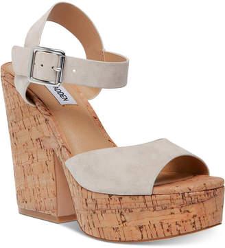 Steve Madden Women Jess Cork Platform Sandals
