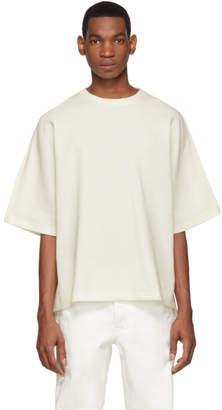 Jil Sander Off-White Waffle Knit T-Shirt