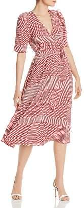 Joie Cata Striped Wrap Midi Dress