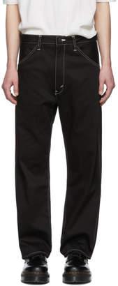 Junya Watanabe Black Cotton Twill Trousers