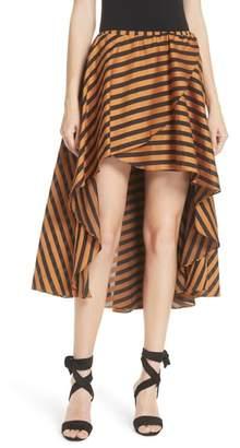 Caroline Constas Adelle Ruffle High/Low Skirt