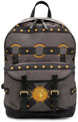 Versace bondage print backpack