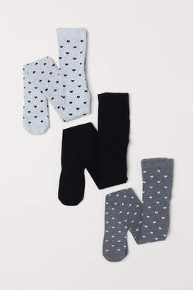 H&M 3-pack Tights - Gray
