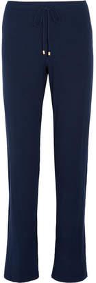 Hanro Hélène Ribbed Stretch-modal Jersey Pajama Pants - Midnight blue