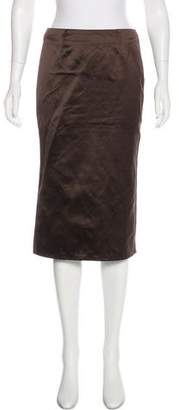 Alexander McQueen Knee-Length Satin Skirt w/ Tags