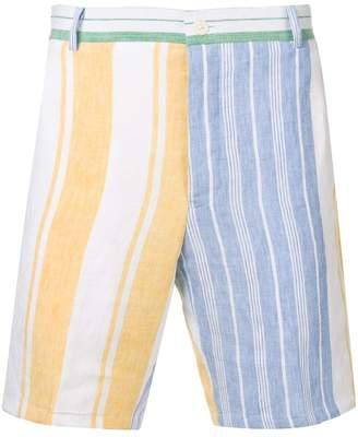 Thom Browne Striped Blanket Linen Short
