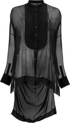 Masnada long button bib shirt