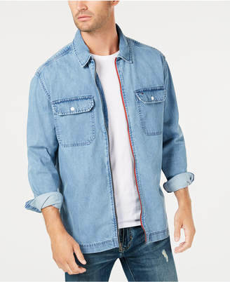 Tommy Hilfiger Men's Denim Logo Jacket Shirt, Created for Macy's