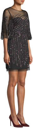 Aidan Mattox Beaded Mini Dress