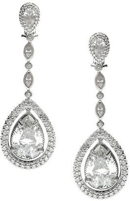 Judith Ripka Sterling 20.45ct tw Diamonique Dangle Earrings