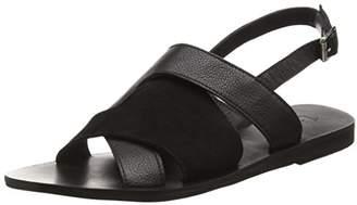 Black Lily Women's NIRI Sandal Open Toe Sandals Black Size: 5