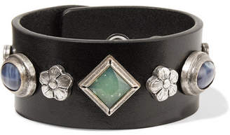 Isabel Marant Embellished Leather Cuff - Black
