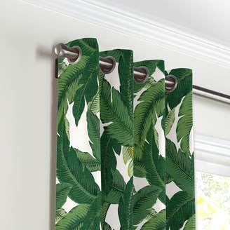 Loom Decor Grommet Drapery Be Leaf It - Palm