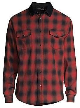 The Kooples Men's Plaid Long Sleeve Shirt