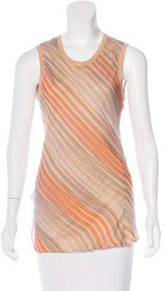 Reed Krakoff Silk Striped Top