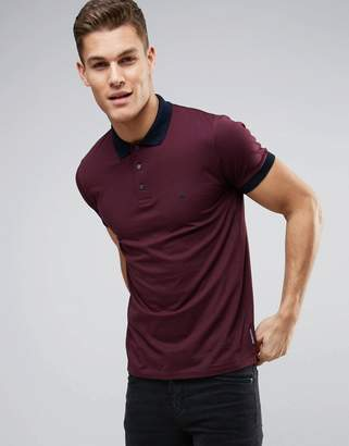 French Connection Polo Shirt with Contrast Collar and Cuff