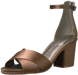 Kenneth Cole Reaction Women's Reed Forever Two Piece Strappy Ankle Strap Block Heel-Satin Dress Sandal