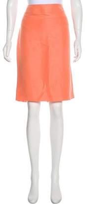 Armani Collezioni Linen-Blend Skirt