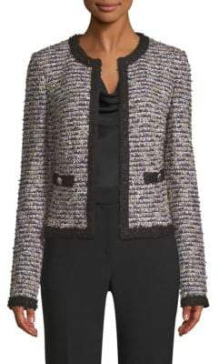 St. John Inlaid Eyelash Tweed Knit Jacket