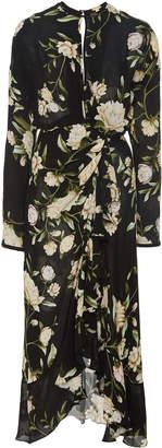 Johanna Ortiz Melodias Salvajes Floral Silk Georgette Dress