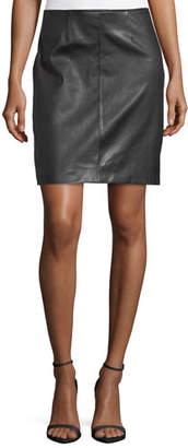 St. John Stretch Napa Leather Pencil Skirt