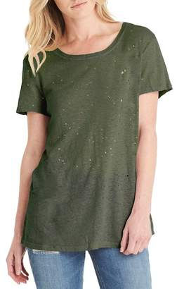 Michael Stars Distressed Scoop Neck Tee