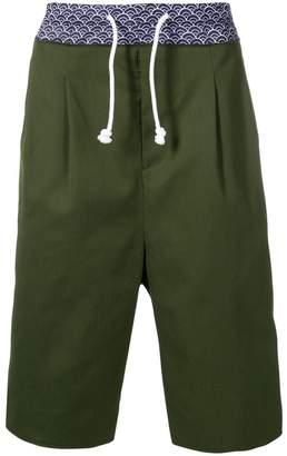 Maison Margiela contrast drawstring shorts