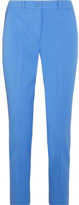 Michael Kors Collection - Samantha Wool-blend Twill Slim-leg Pants - Blue $695 thestylecure.com