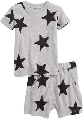 Nununu Star Print T-Shirt & Shorts Set