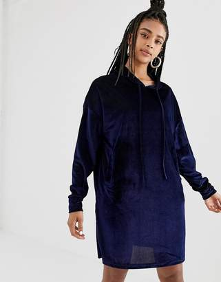 Daisy Street hoodie dress in velvet cord