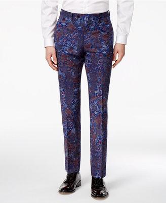 Tallia Men's Slim-Fit Indigo Paisley Cotton Dress Pants $99.50 thestylecure.com