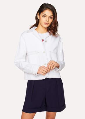 Paul Smith Women's Cream Cotton-Denim Jacket
