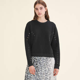Maje Sweatshirt with eyelets