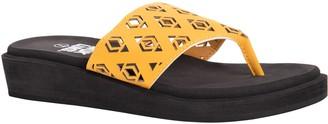 Muk Luks Women's Geometric Cutout Wedge Sandals- Melanie
