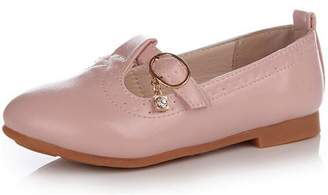 DADAWEN Girl's Slip-On Pendant Casual Oxford Dress Shoes (Toddler/Little Kid/Big Kid) - 1 US